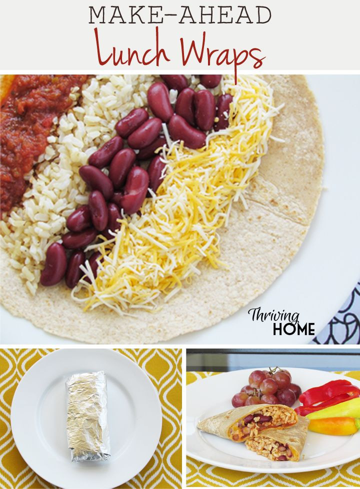 Healthy Make Ahead Lunches For Week  Make Ahead Lunch Wraps Recipe