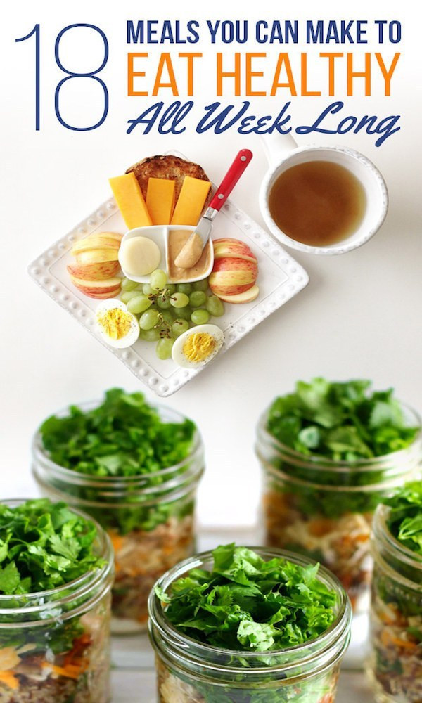 Healthy Make Ahead Lunches For Week  18 Meals to Make Ahead to Eat Healthy All Week – Edible Crafts