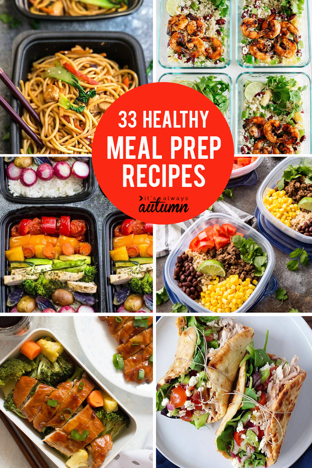 Healthy Make Ahead Lunches For Week  33 delicious meal prep recipes for healthy lunches that