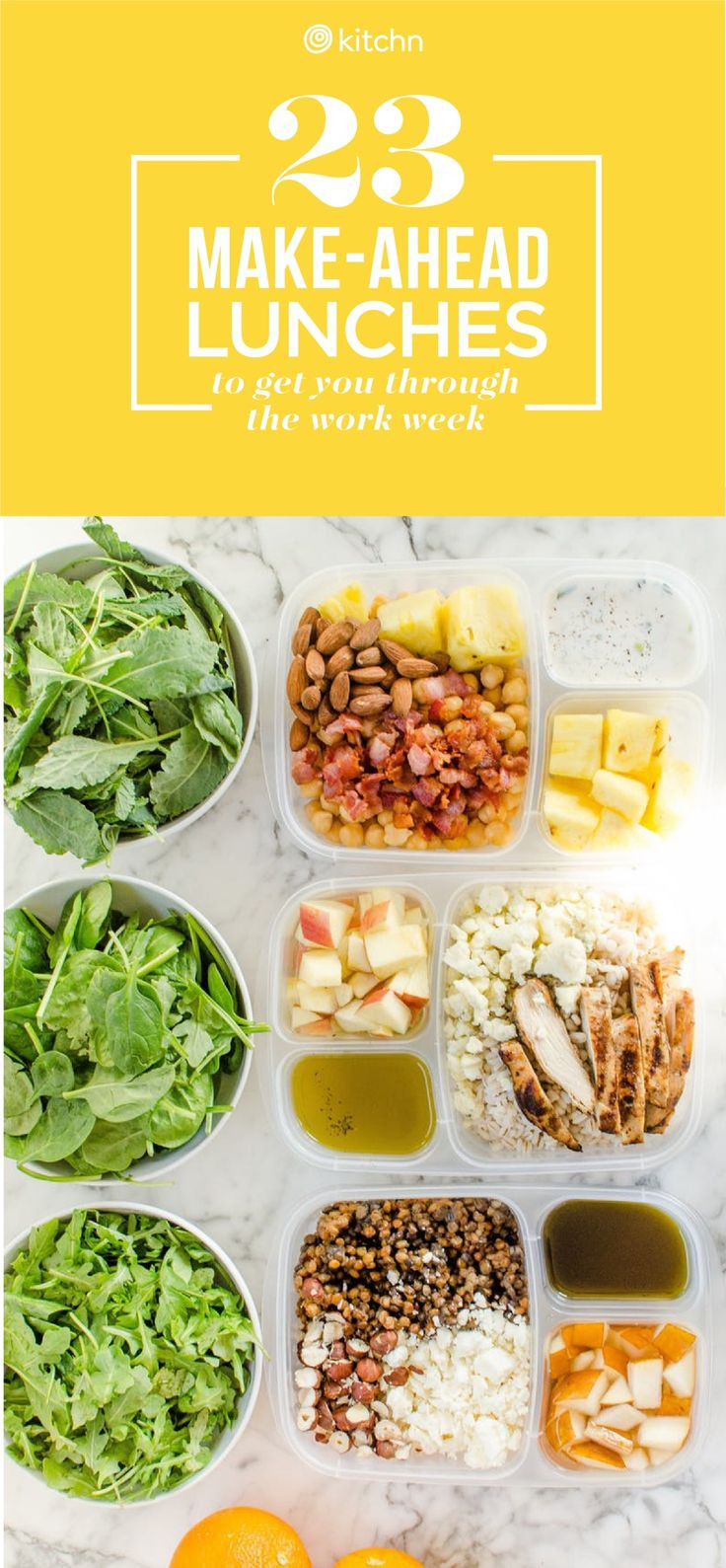 Healthy Make Ahead Lunches For Week  Best 25 Make ahead lunches ideas on Pinterest