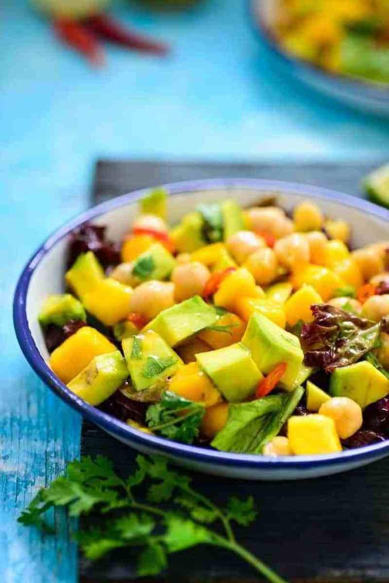 Healthy Mango Recipes  Healthy Mango Avocado Chickpea Salad recipe to make at home