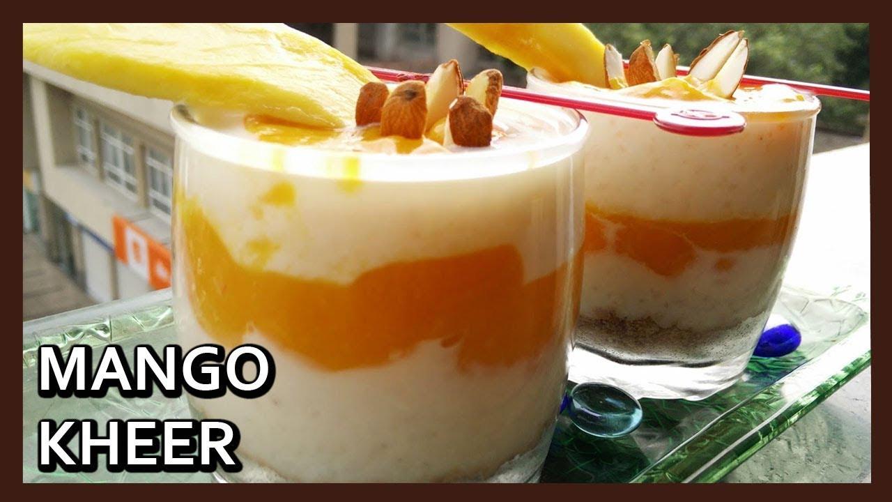 Healthy Mango Recipes  Mango Kheer Recipe Easy Dessert Recipe