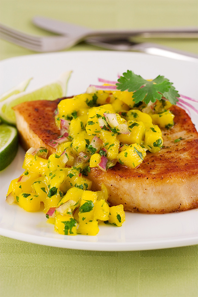 Healthy Mango Recipes  Swordfish mango salsa a healthy recipe with weight loss