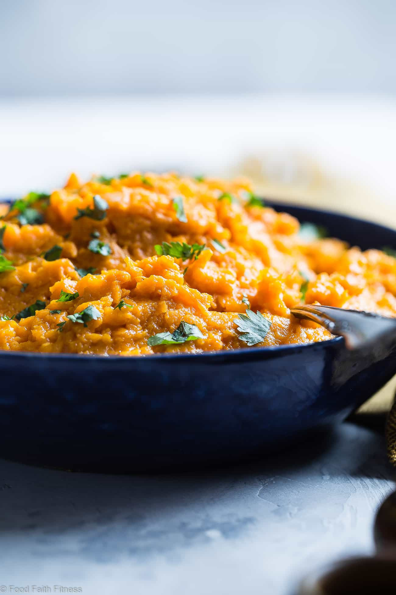 Healthy Mashed Sweet Potatoes  Curried Savory Vegan Healthy Mashed Sweet Potatoes