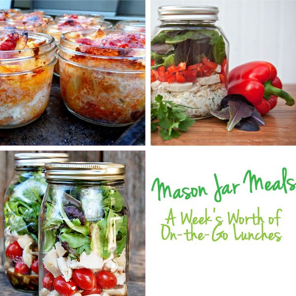 Healthy Mason Jar Lunches  17 best images about Mason Jar Meals on Pinterest