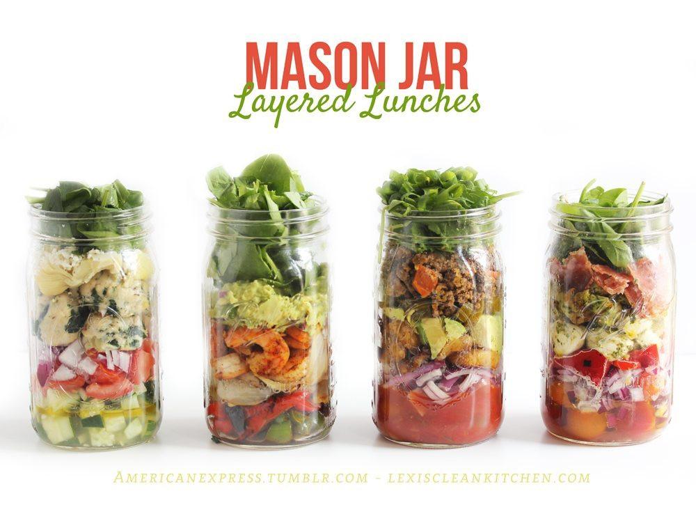 Healthy Mason Jar Lunches  Mason Jar Layered Lunches Lexi s Clean Kitchen