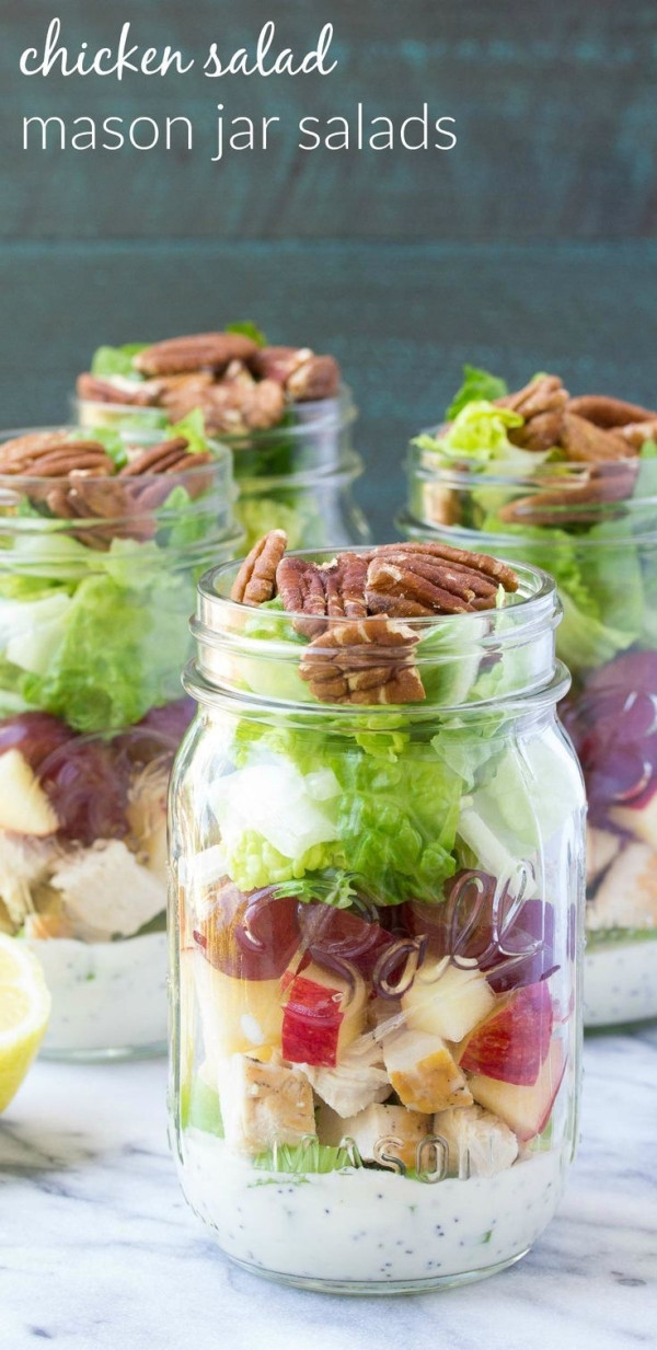 Healthy Mason Jar Lunches  How to make an easy and healthy mason jar salad for make