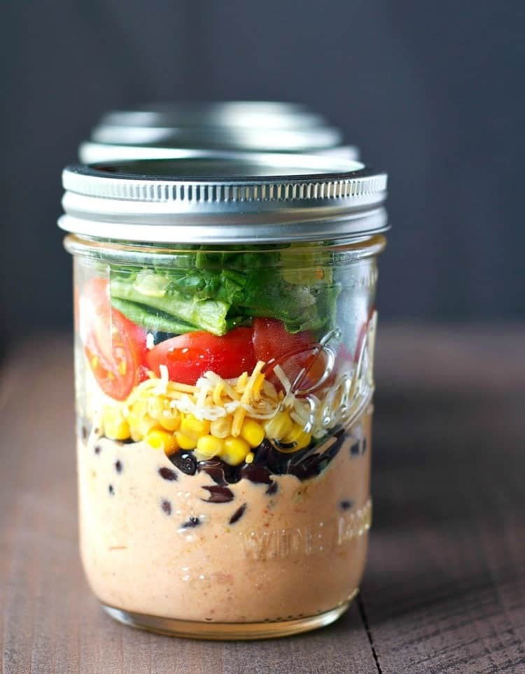 Healthy Mason Jar Lunches  Chicken Taco Mason Jar Salads The Seasoned Mom