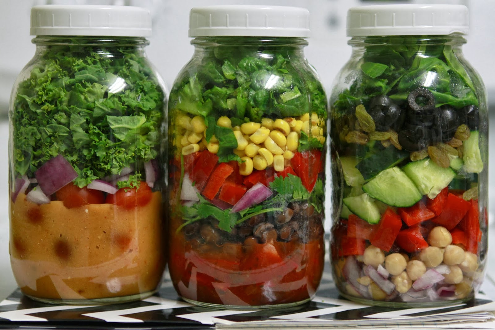 Healthy Mason Jar Lunches  Naturally Ashley Mason Jar Meals Make Easy Lunches with