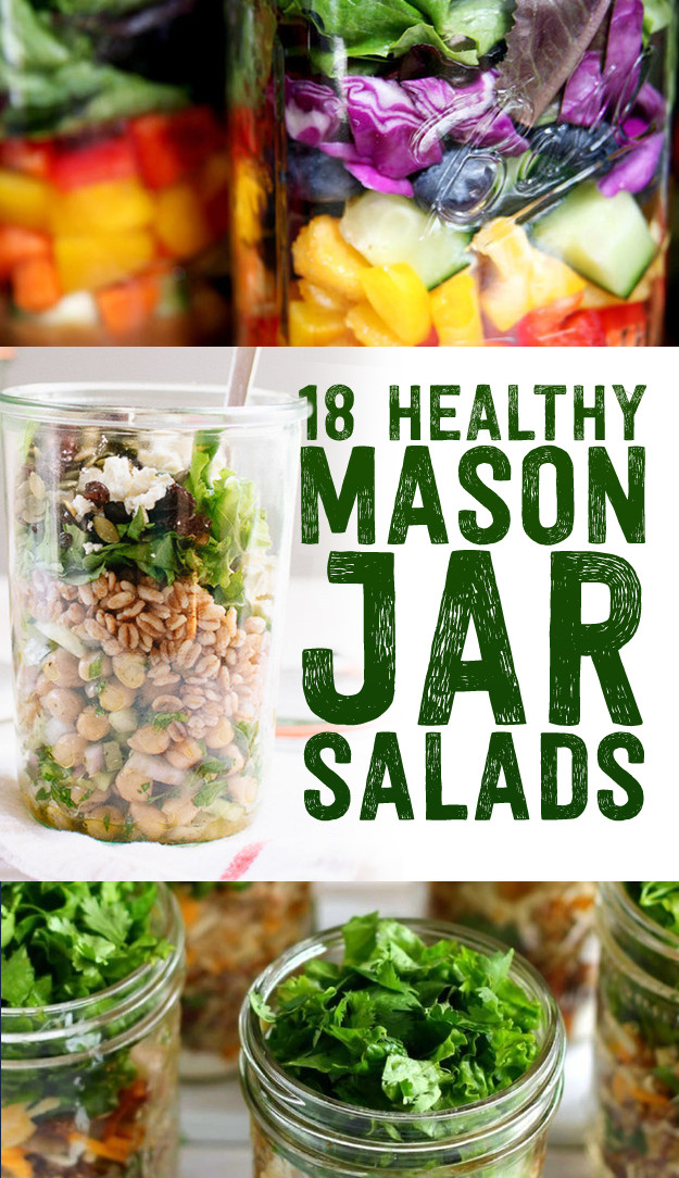 Healthy Mason Jar Salads  18 Healthy Mason Jar Salads You Can Make Ahead Time