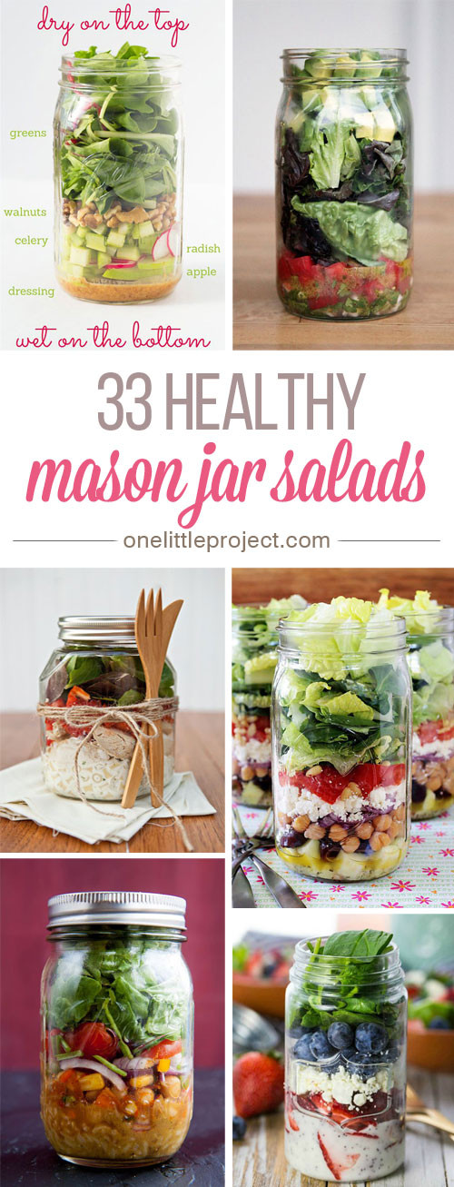 Healthy Mason Jar Salads  33 Healthy Mason Jar Salads