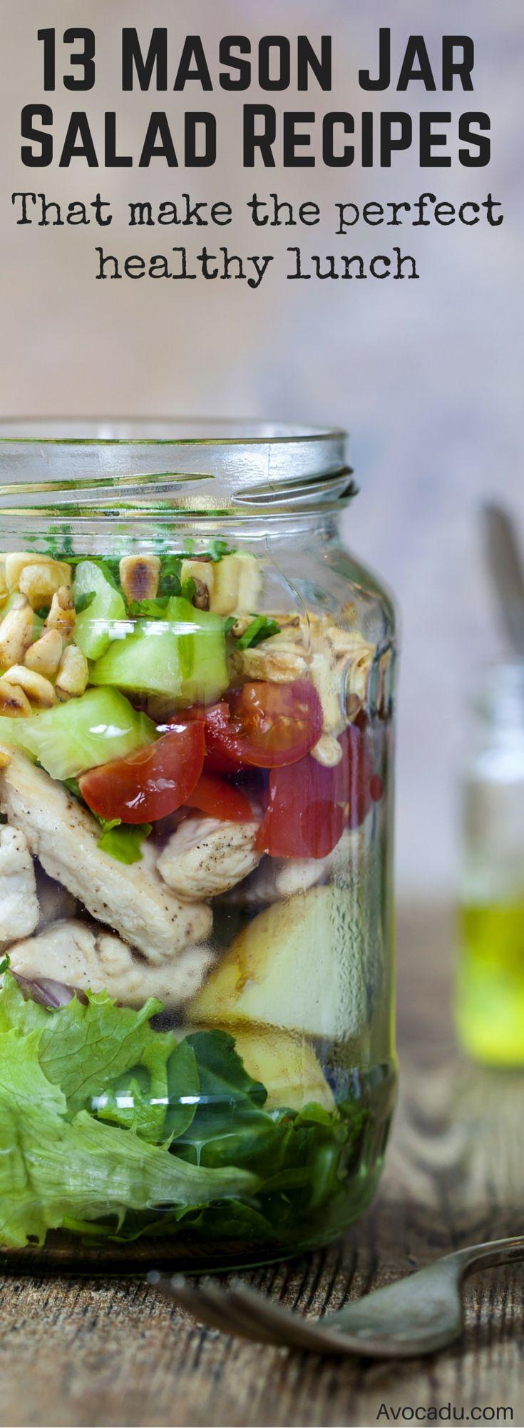 Healthy Mason Jar Salads  De 25 bedste idéer inden for Mason jar salads på Pinterest
