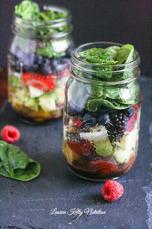 Healthy Mason Jar Salads  Mixed Berry Chopped Mason Jar Salad Quick and Easy Make