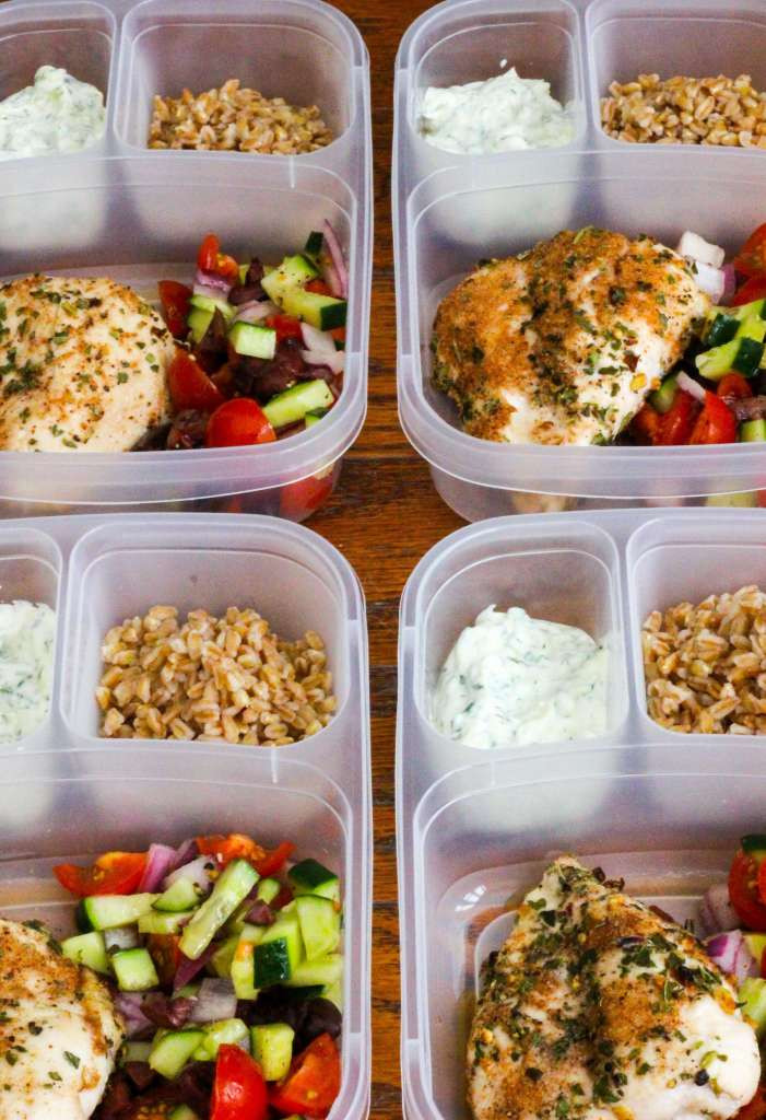 Healthy Meal Prep Dinners  Healthy Greek Chicken Meal Prep Bowls Ally s Cooking