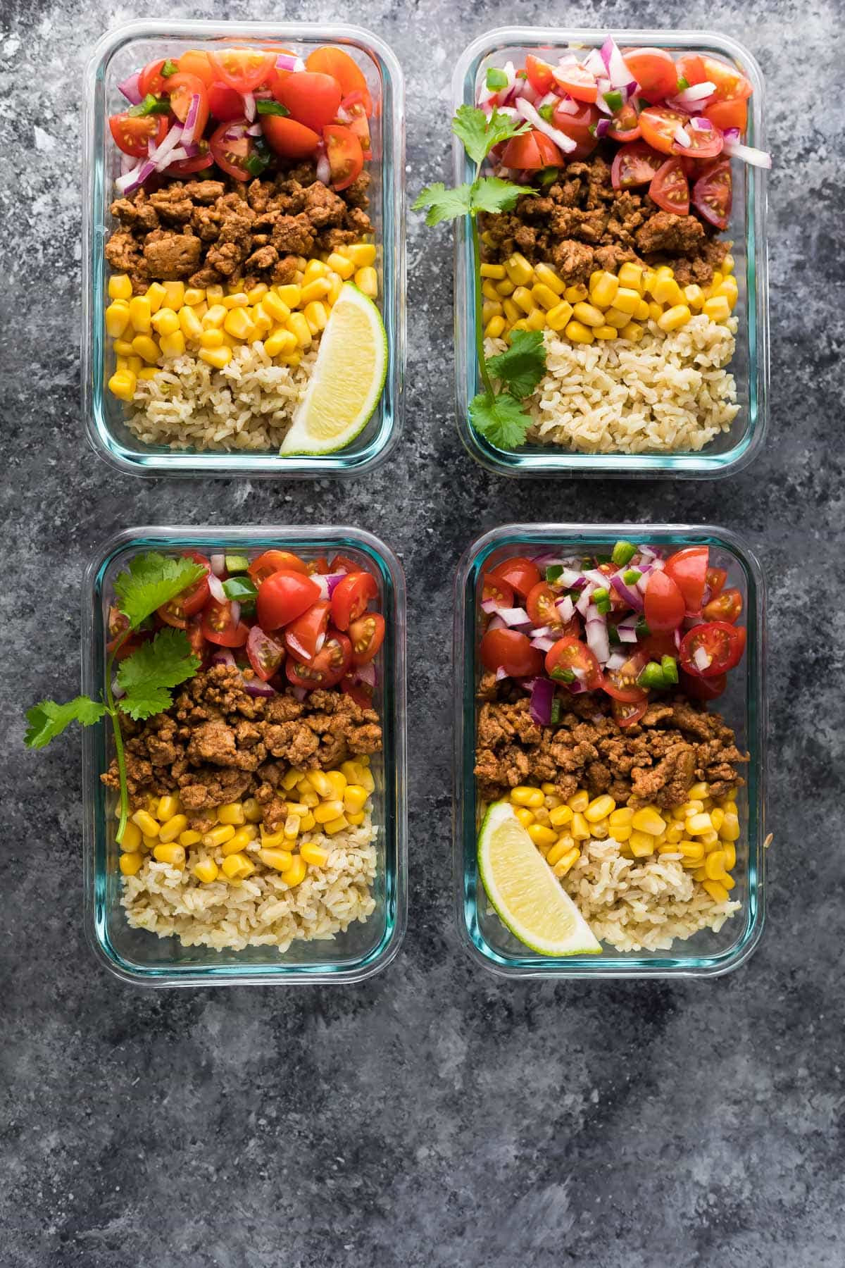 Healthy Meal Prep Lunches  Turkey Taco Lunch Bowls Meal Prep