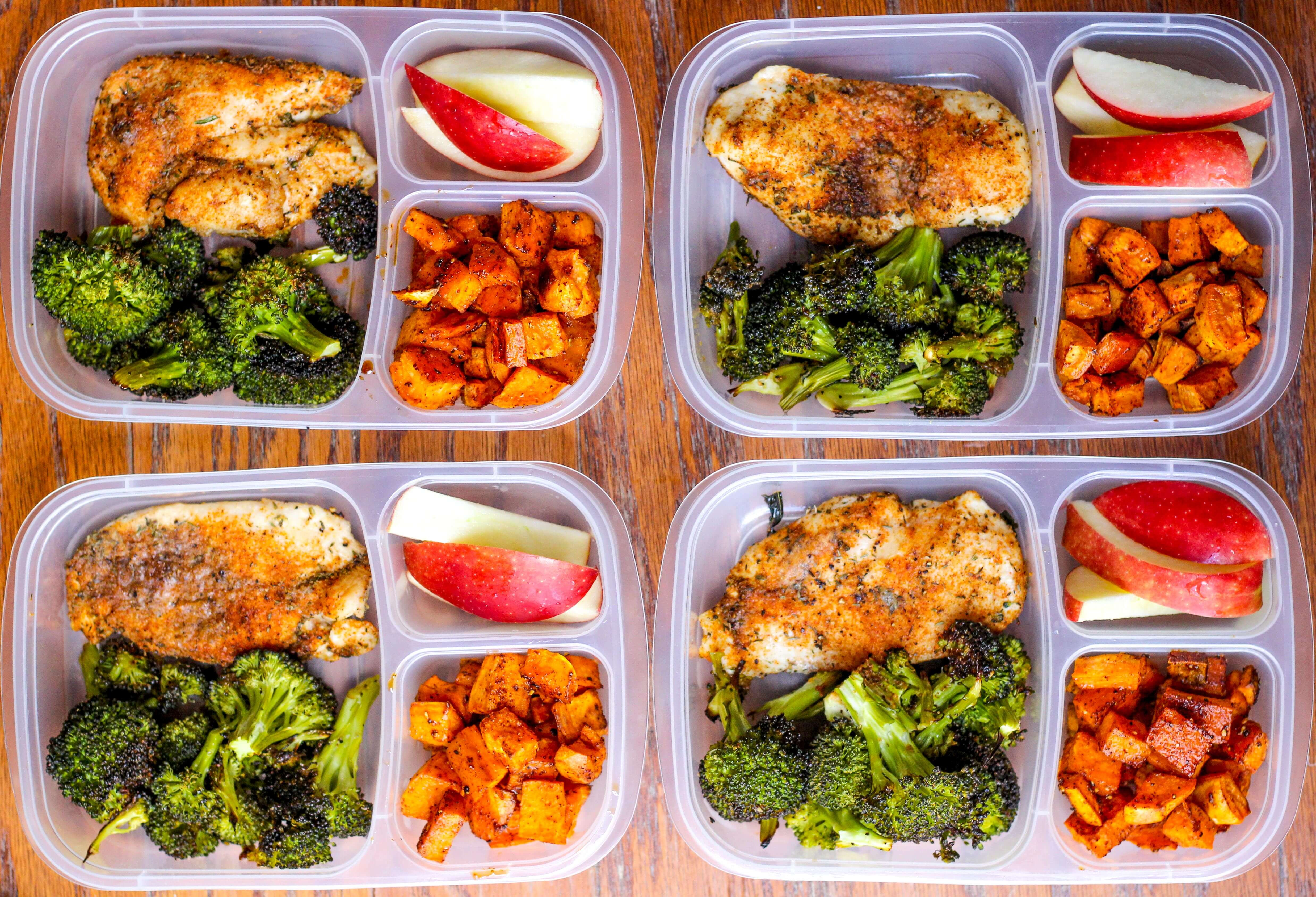 Healthy Meal Prep Lunches  Meal Prep Lunch Bowls with Spicy Chicken Roasted Lemon