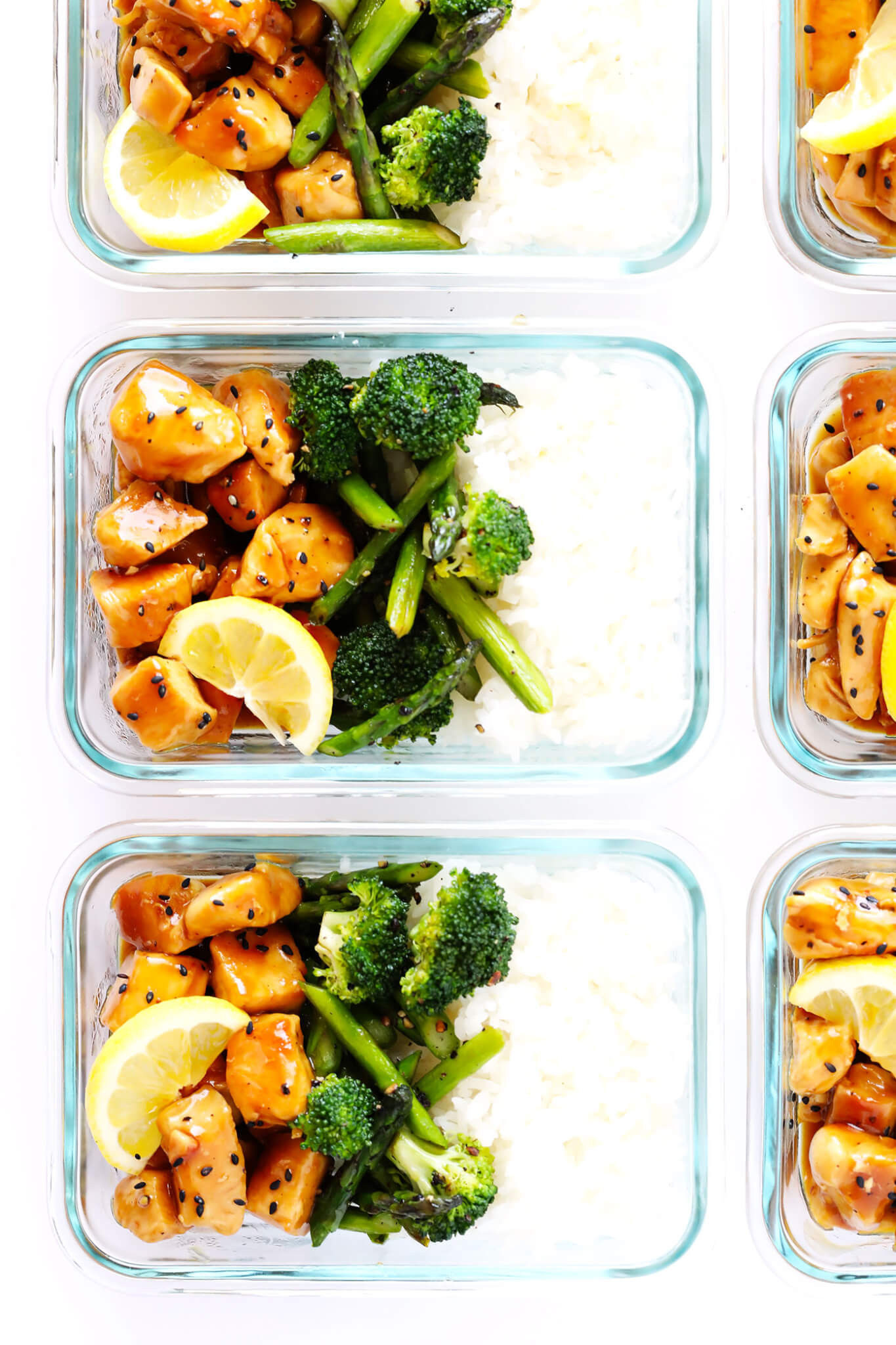 Healthy Meal Prep Lunches  Honey Lemon Chicken Bowls Meal Prep