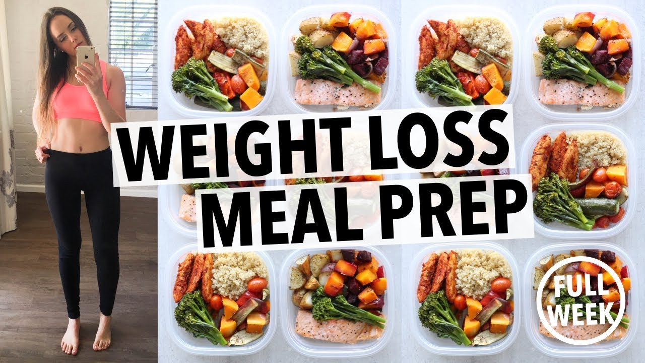 Healthy Meal Prep Recipes For Weight Loss  WEIGHT LOSS MEAL PREP FOR WOMEN 1 WEEK IN 1 HOUR By