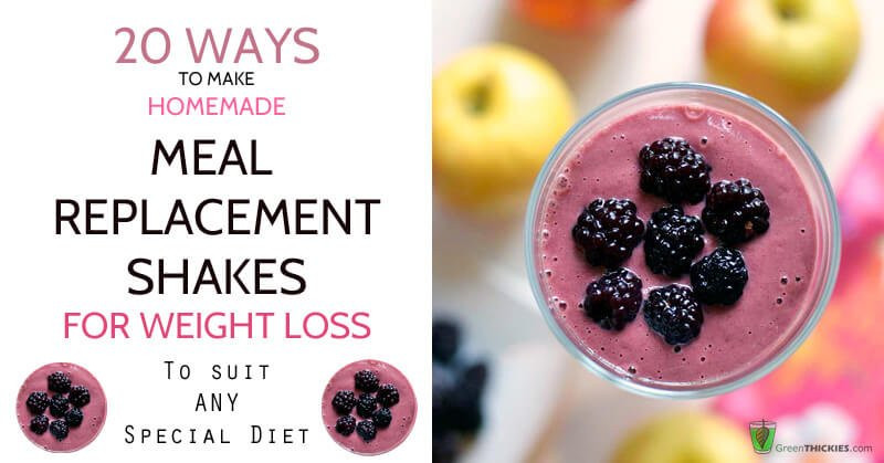 Healthy Meal Replacement Smoothie Recipes  20 Ways to Make Homemade Meal Replacement Shakes for