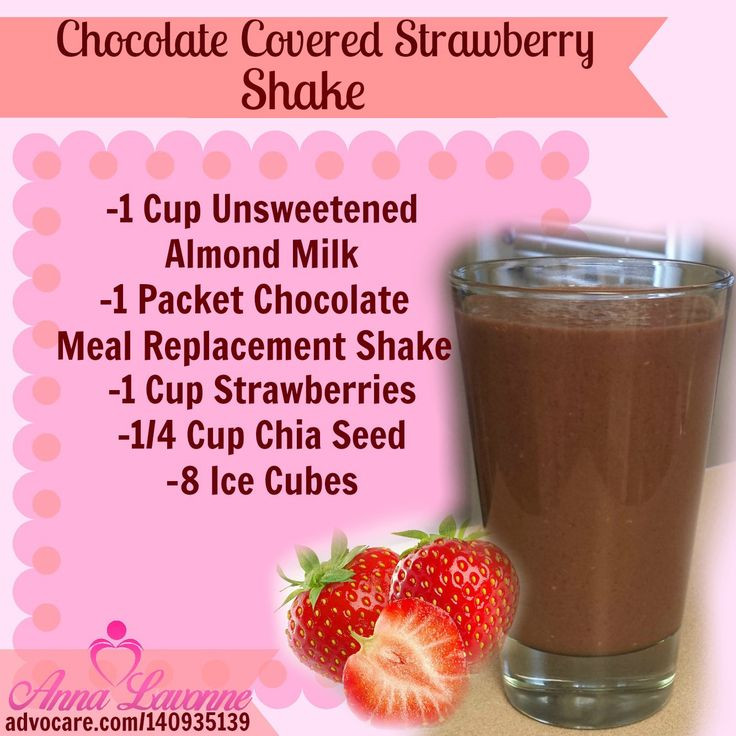 Healthy Meal Replacement Smoothie Recipes  Chocolate Covered Strawberry shake You could use a