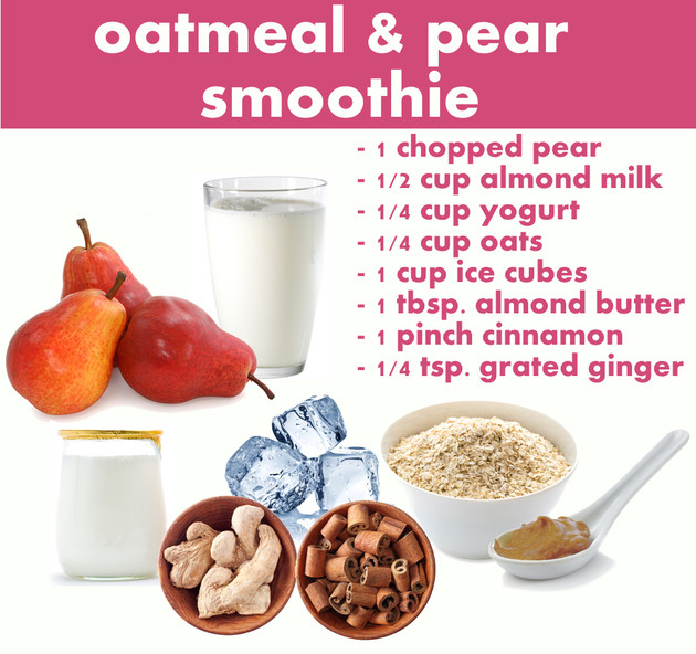 Healthy Meal Replacement Smoothies  Breakfast Smoothie Recipes for Fall Oatmeal