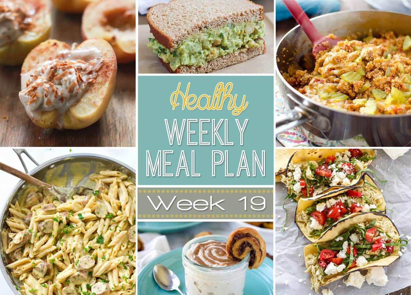 Healthy Meals For Breakfast Lunch And Dinner  Healthy Weekly Meal Plan 19 Yummy Healthy Easy