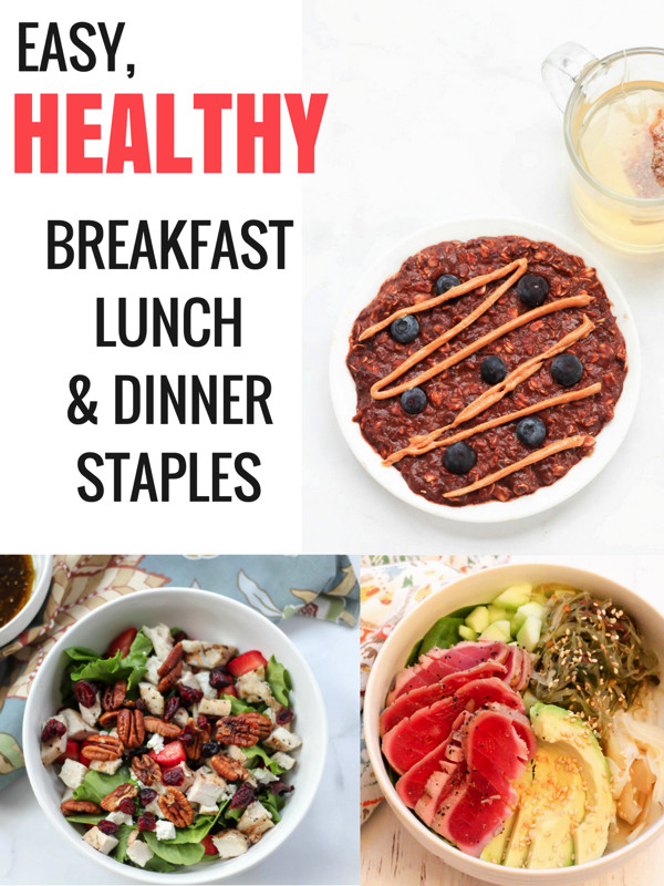 Healthy Meals For Breakfast Lunch And Dinner  Top 5 easy healthy meals for breakfast lunch and dinner