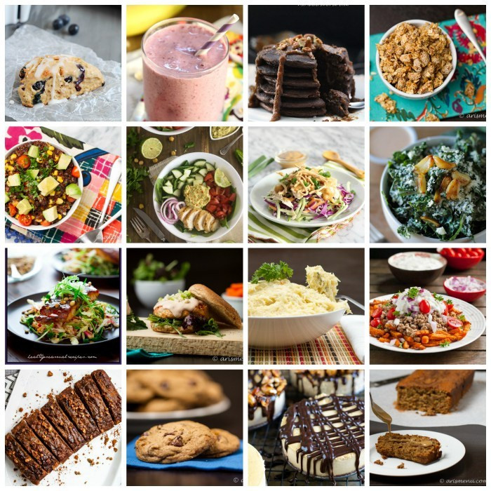 Healthy Meals For Breakfast Lunch And Dinner  90 Healthy Recipes for Breakfast Lunch Dinner & Dessert