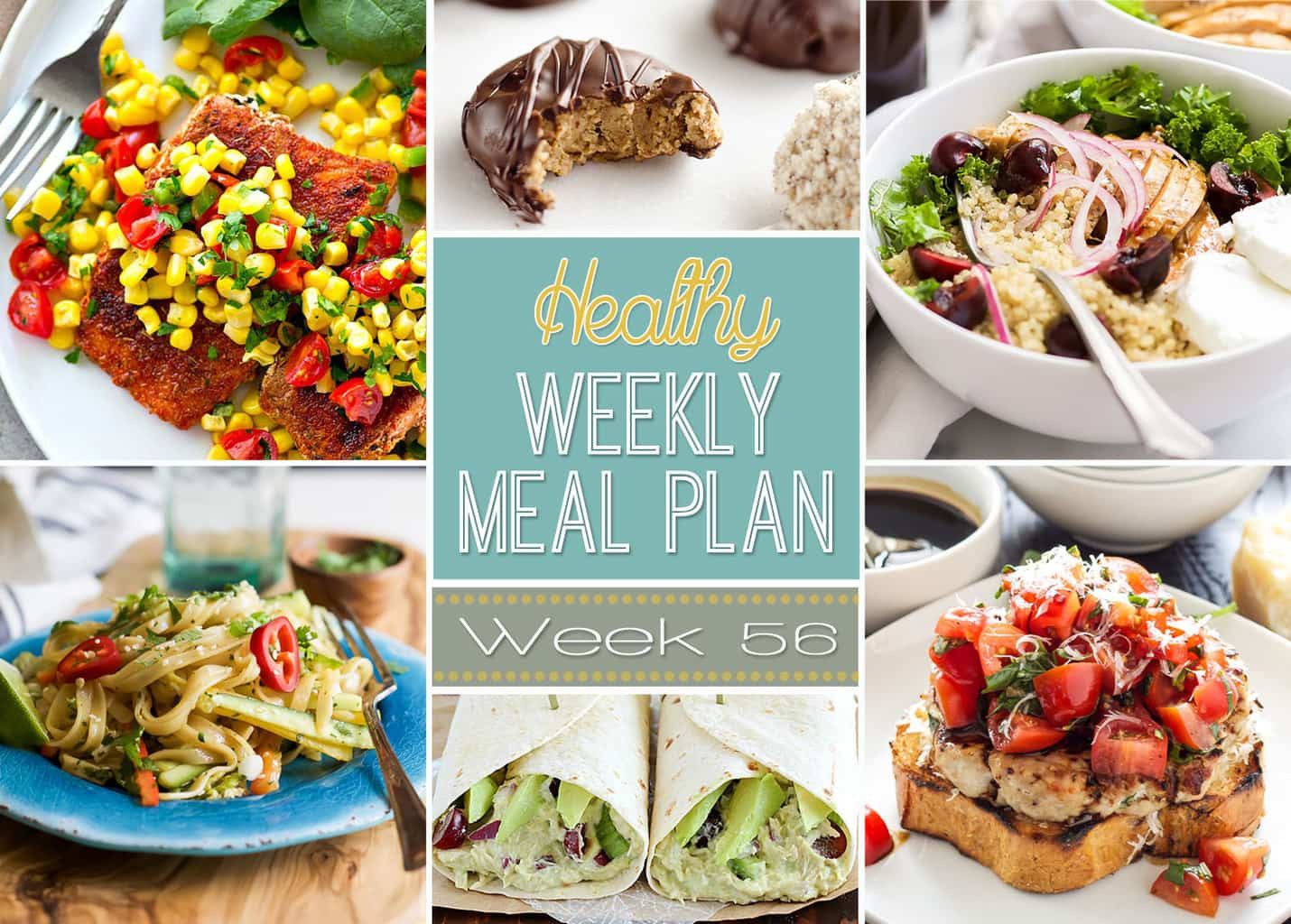 Healthy Meals For Breakfast Lunch And Dinner  Healthy Weekly Meal Plan 56 Yummy Healthy Easy