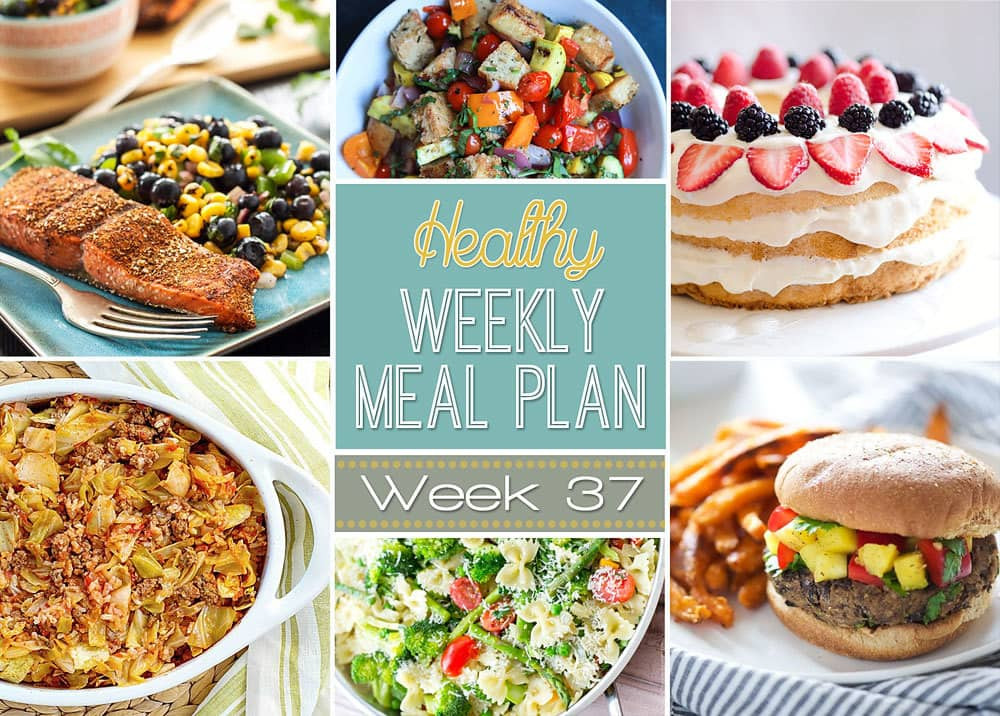 Healthy Meals For Breakfast Lunch And Dinner  Healthy Weekly Meal Plan 37 Yummy Healthy Easy