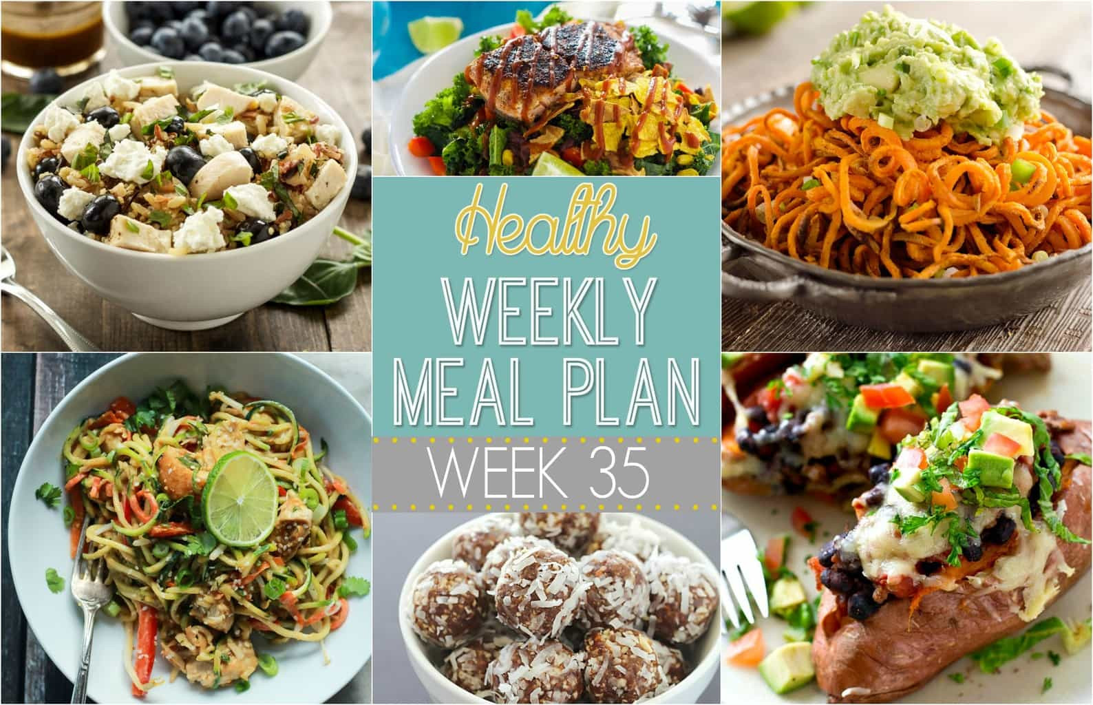 Healthy Meals For Breakfast Lunch And Dinner  Healthy Weekly Meal Plan 35 Yummy Healthy Easy