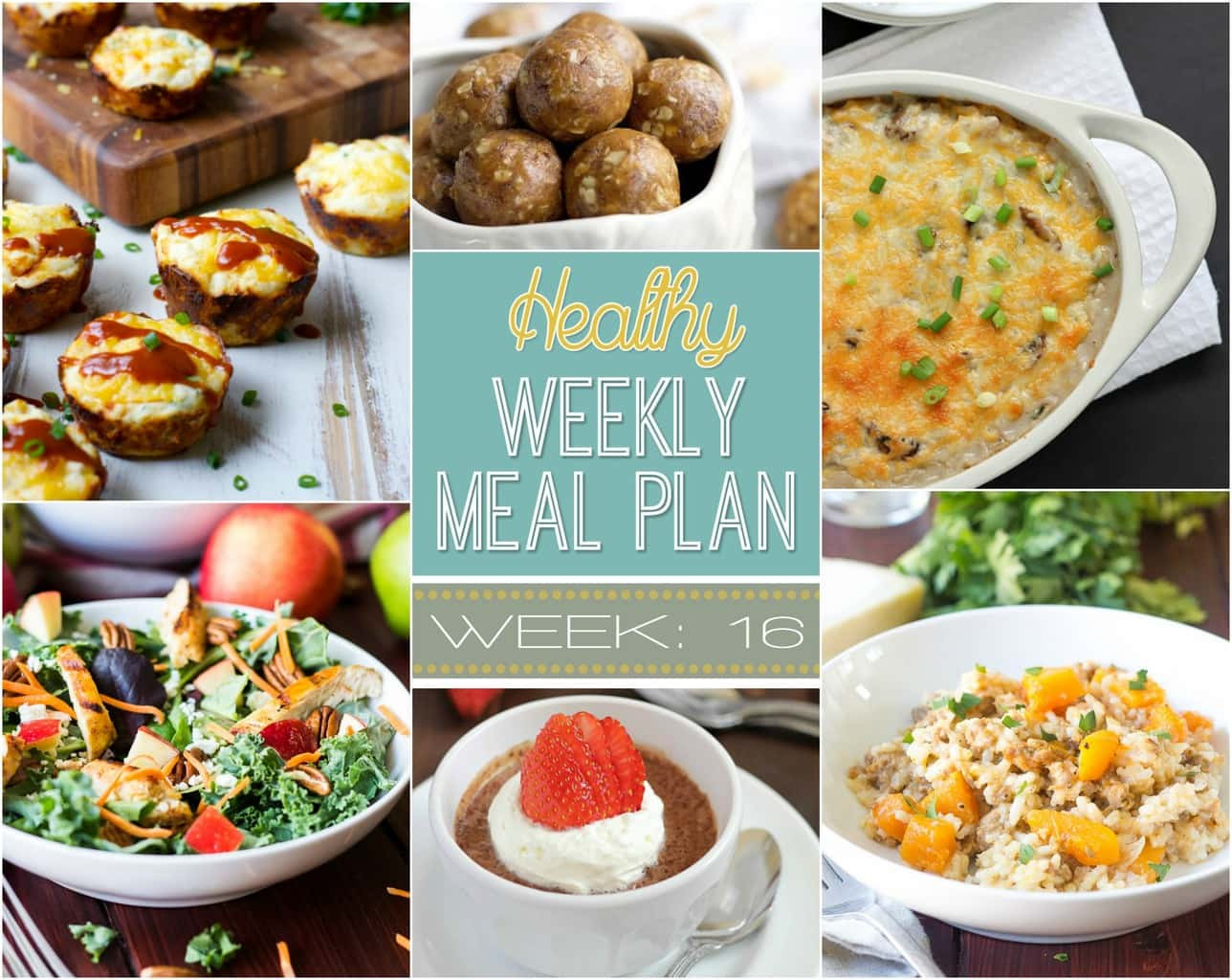 Healthy Meals For Breakfast Lunch And Dinner  Healthy Weekly Meal Plan 16 Yummy Healthy Easy