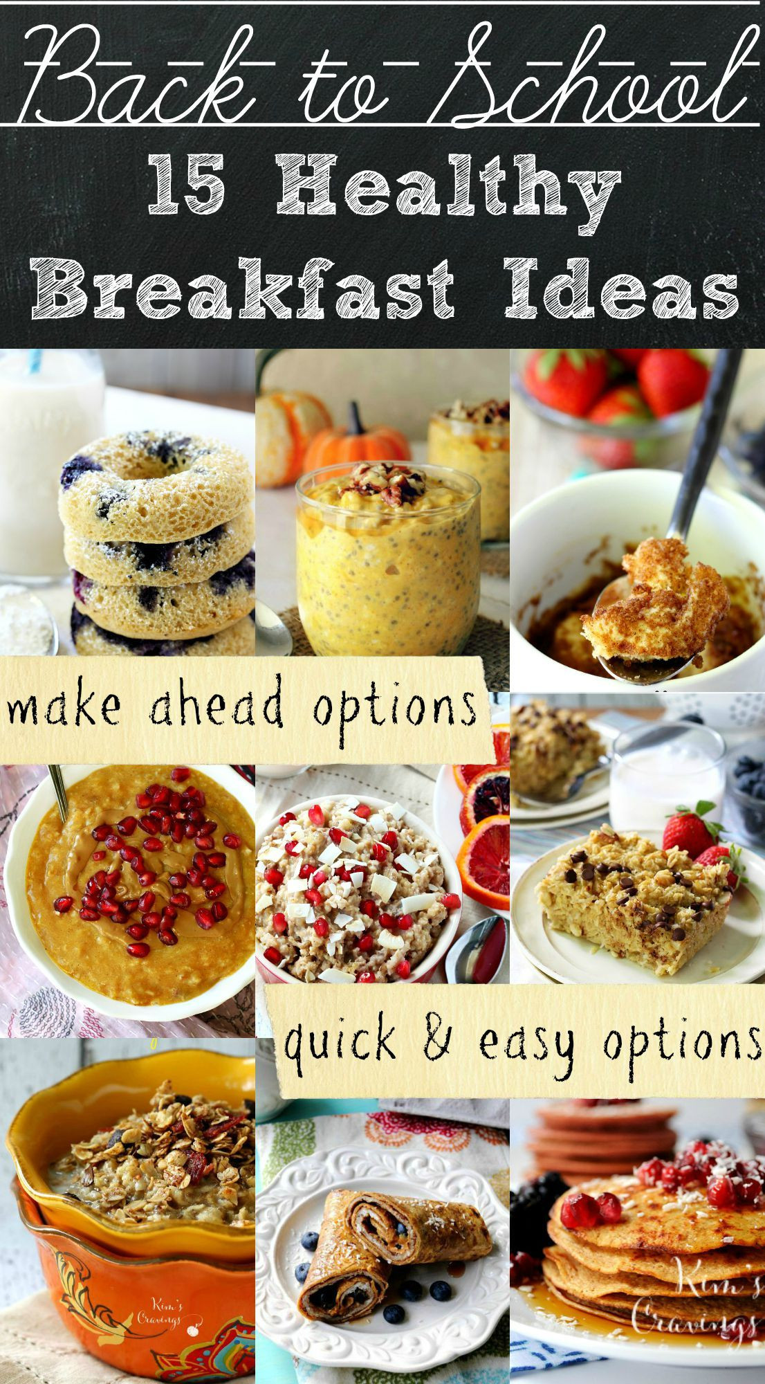 Healthy Meals For Breakfast  Healthy Back to School Breakfast Ideas