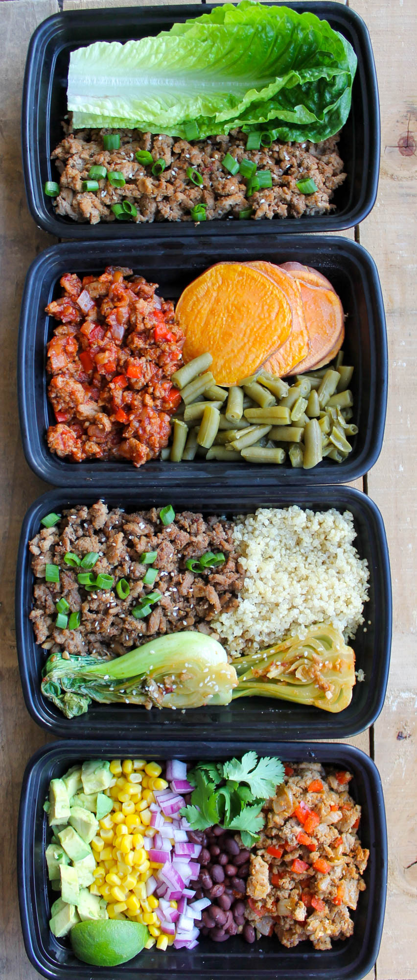 Healthy Meals With Ground Turkey  Easy Ground Turkey Meal Prep Bowls 4 Ways Smile Sandwich