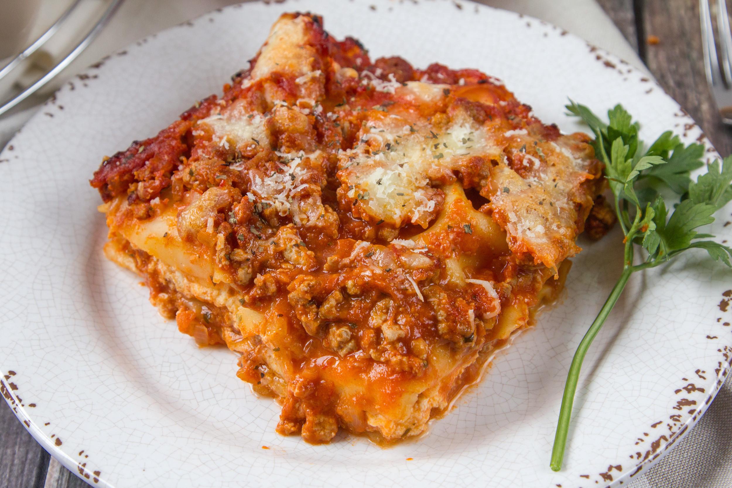 Healthy Meat Lasagna Recipe  Light fort Food Diet Recipes Genius Kitchen