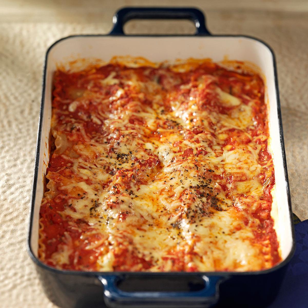 Healthy Meat Lasagna Recipe  Makeover Beef & Sausage Lasagna Recipe