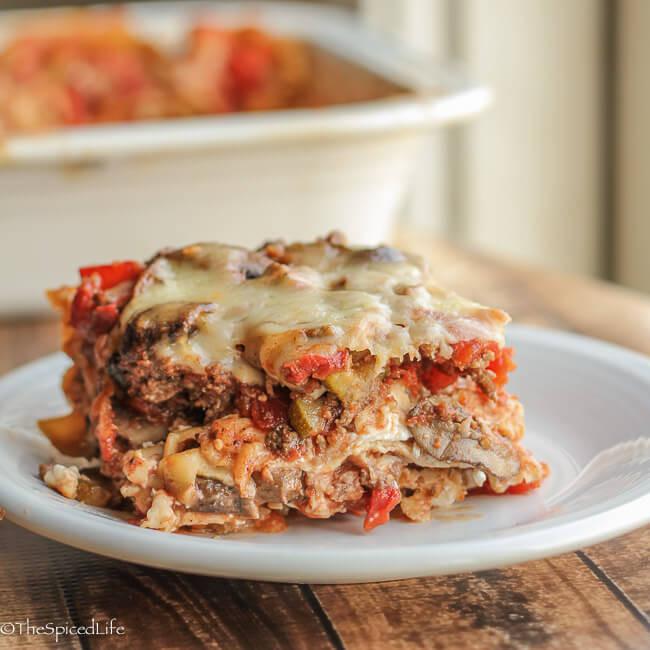 Healthy Meat Lasagna Recipe  healthy ground beef and mushroom recipes