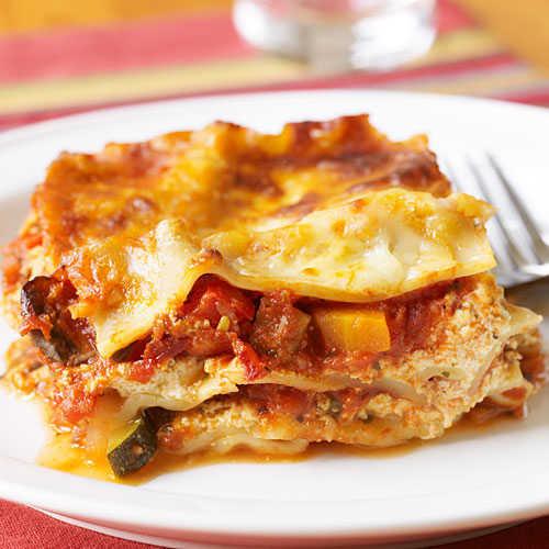 Healthy Meat Lasagna Recipe  Ve able Lasagna Healthy Lasagna Recipes Cooking Light