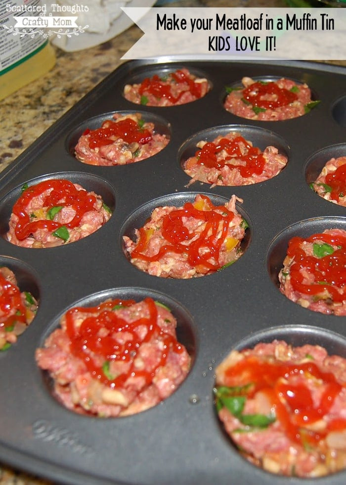 Healthy Meatloaf Muffins  Mini Meatloaf in a Muffin Tin Recipe Scattered Thoughts
