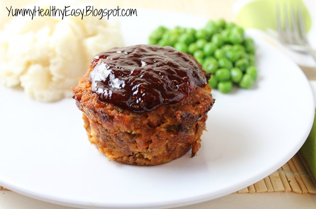 Healthy Meatloaf Muffins  Easy Turkey Meatloaf Muffins with Tangy BBQ Sauce Yummy