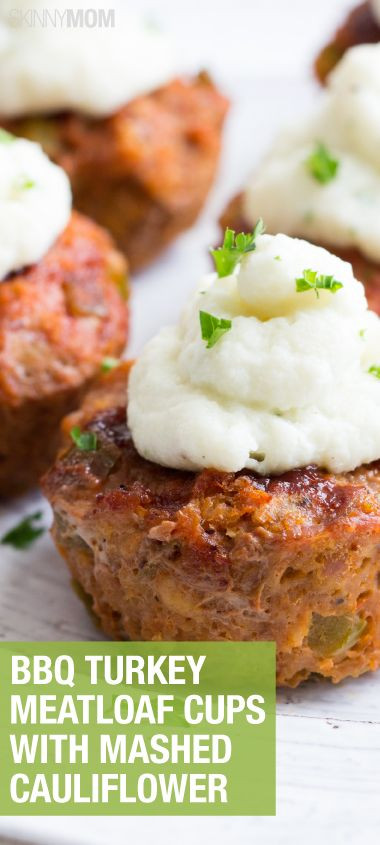 Healthy Meatloaf Muffins  Bbq meatloaf Muffins and Cauliflower recipes on Pinterest