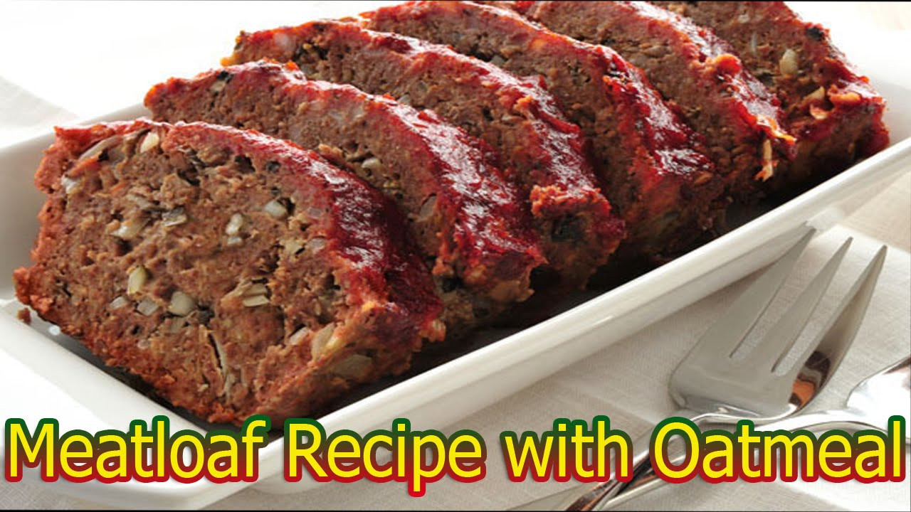 Healthy Meatloaf Recipe With Oatmeal  healthy turkey meatloaf with oats