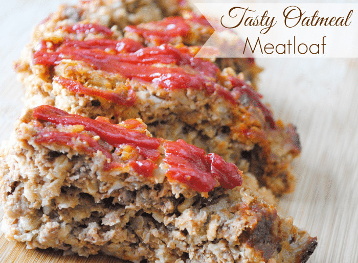 Healthy Meatloaf Recipe With Oatmeal  Tasty Oatmeal Meatloaf Recipe Adventures of Mel