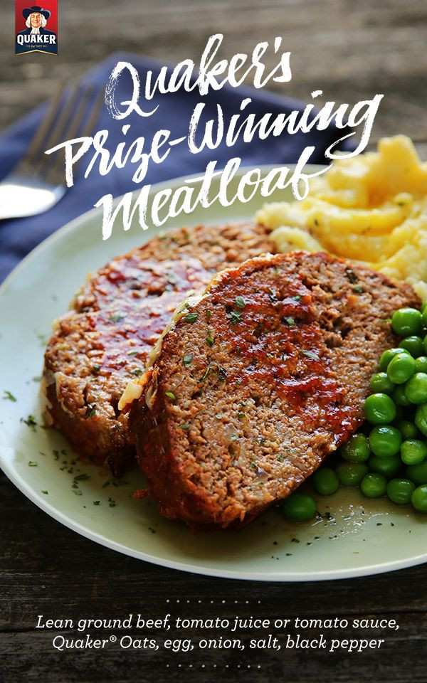Healthy Meatloaf Recipe With Oatmeal  meatloaf recipe oatmeal 1 lb hamburger