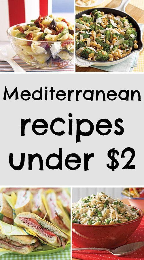Healthy Mediterranean Diet Recipes  Easy to make Mediterranean recipes under $2