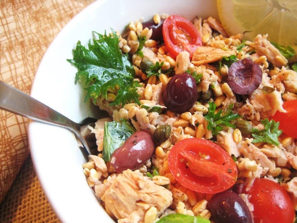 Healthy Mediterranean Diet Recipes  Tuna and Farro Salad
