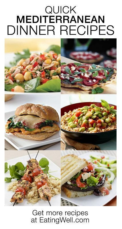 Healthy Mediterranean Diet Recipes  Quick dinner recipes for a healthy Mediterranean t