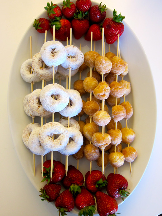 Healthy Meeting Snacks  Donut skewers cute for morning staff meeting