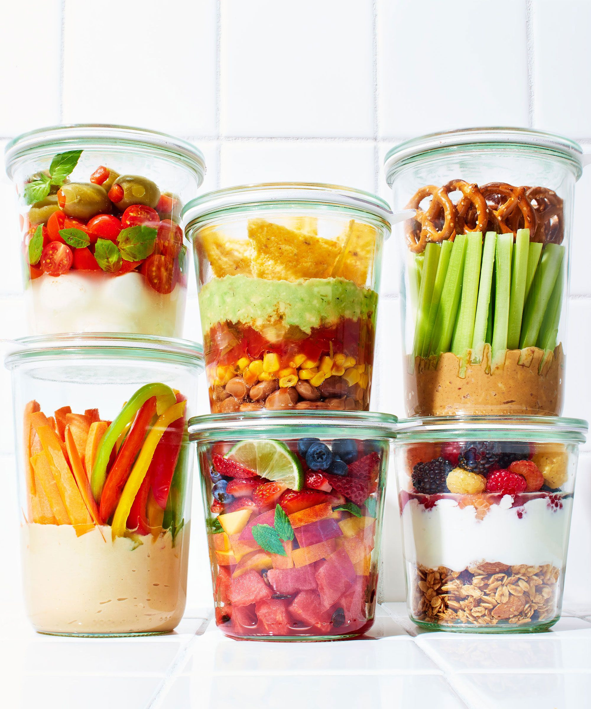 Healthy Meeting Snacks  Snack Recipes Easy Mason Jar Snacks Ideas