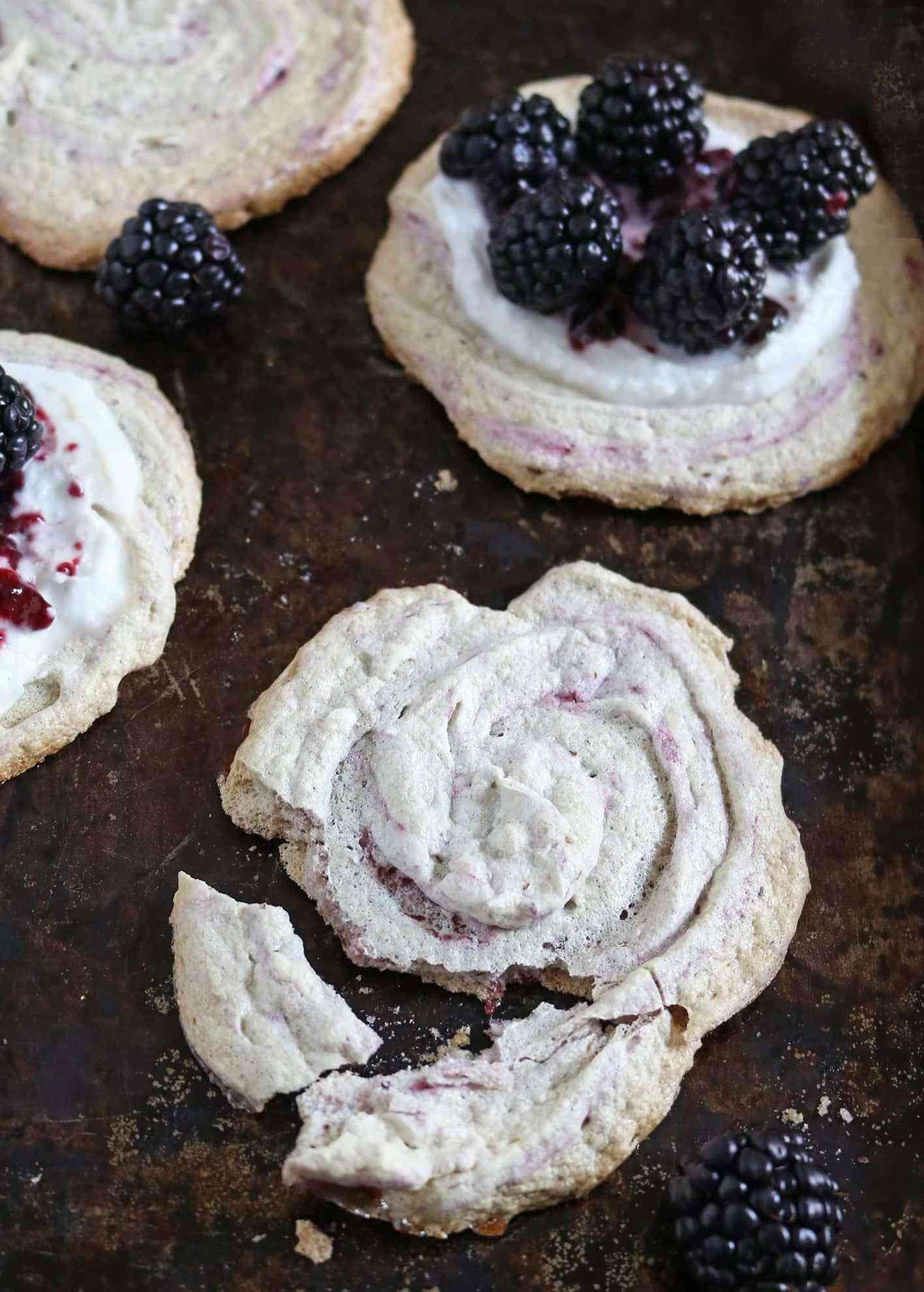 Healthy Meringue Cookies  Blackberry Meringue Cookies Healthy Recipes with a
